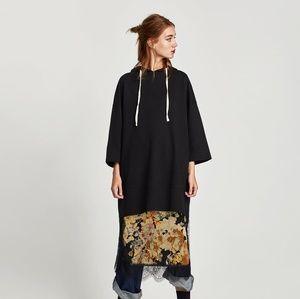 Zara hooded dress